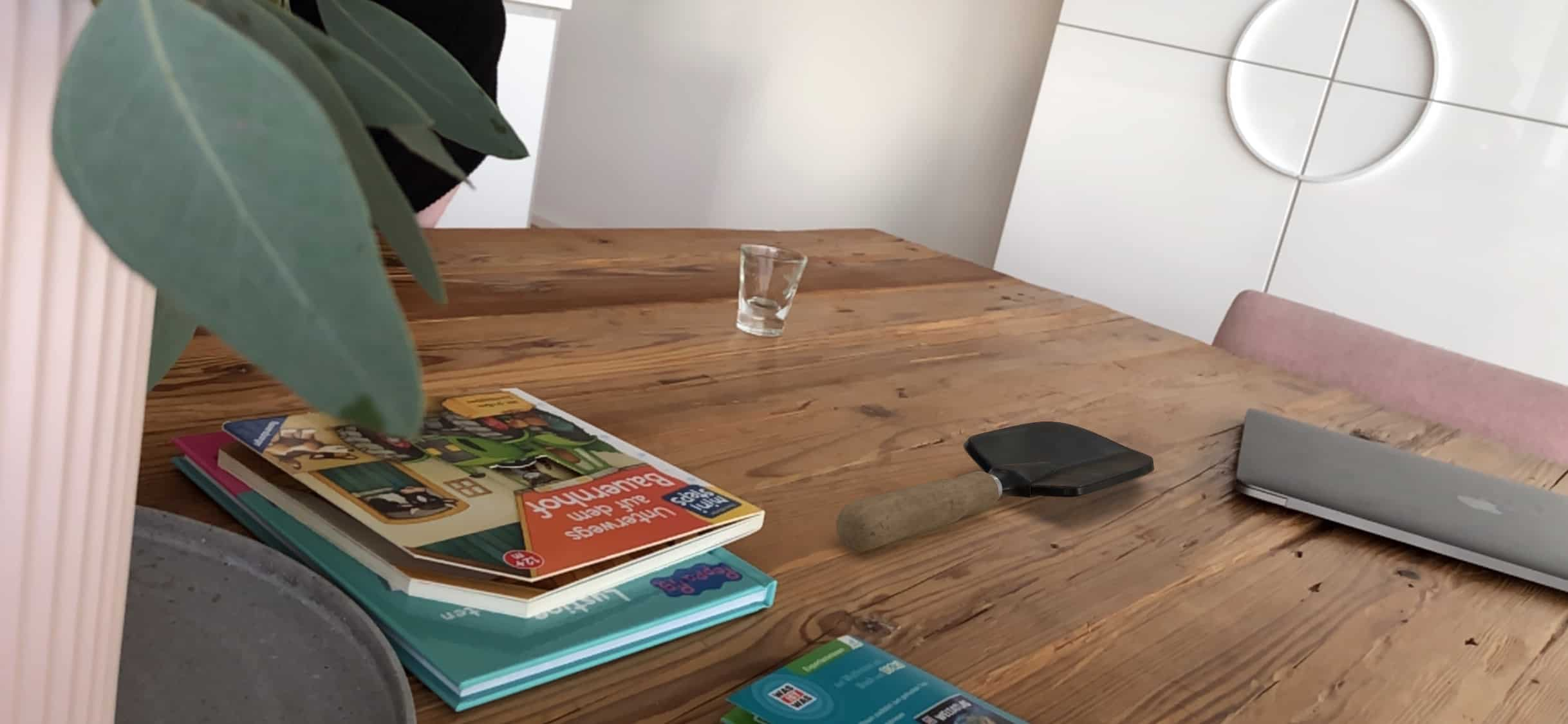 Beispiel 3D Pflanzkelle Augmented Reality Apple AR Kit